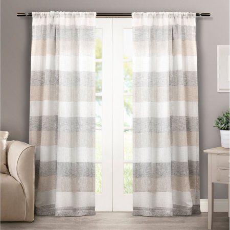 Exclusive Home Bern Rod Pocket Window Curtain Panels Set Of 2 50