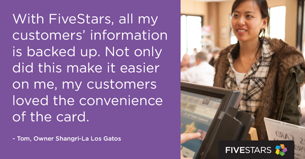 No more messy punch cards and $388,000 spent by Shangri-La's most loyal customers. A #FiveStars client success story: http://blog.fivestars.com/success-story-shangri-la/ #smallbusiness