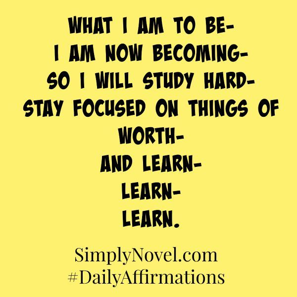 Quotes For Middle School Students: Daily Affirmations For Secondary Students