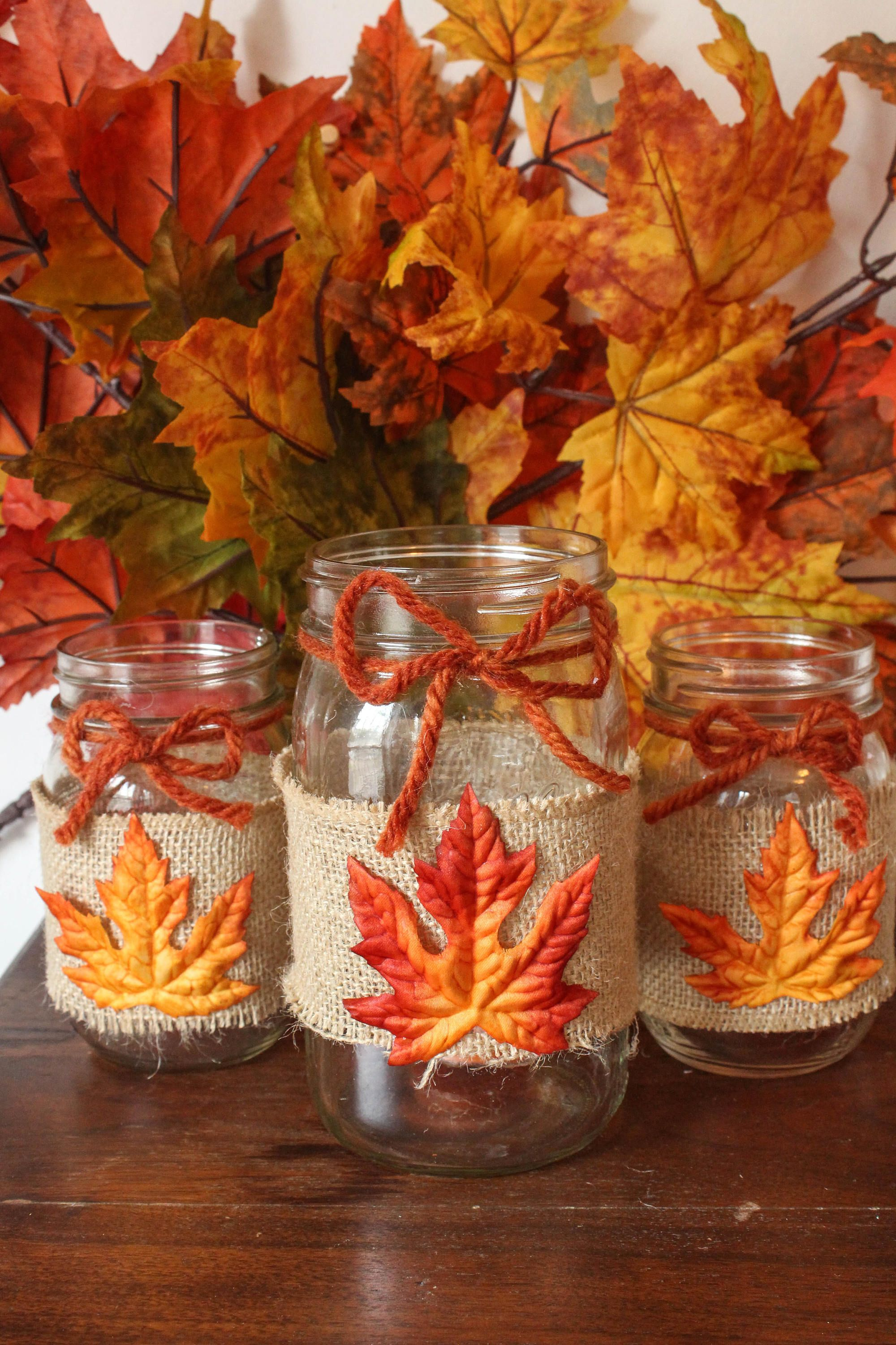 Fall Decorations Mason Jars Easy Craft Ideas