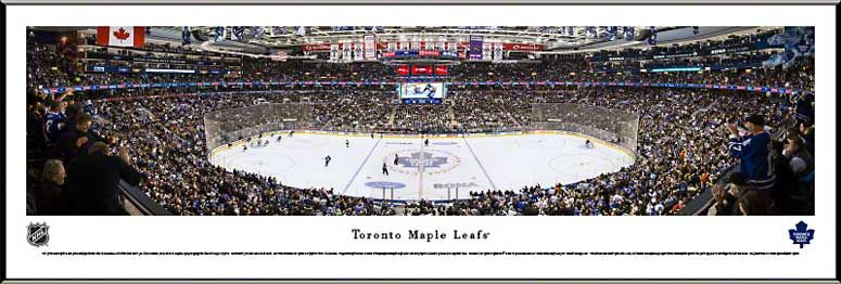 Toronto Maple Leafs Framed Panoramic Poster Print - Air Canada Centre