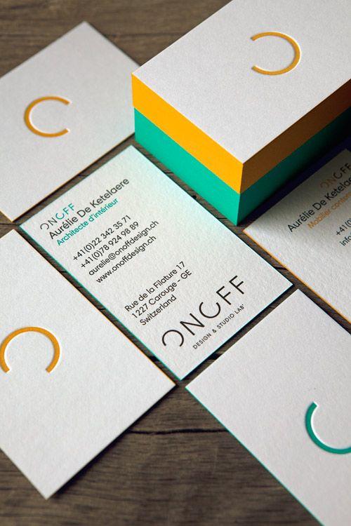 Cartes On Off Imprimees En 2 Couleurs Et Noir Letterpress