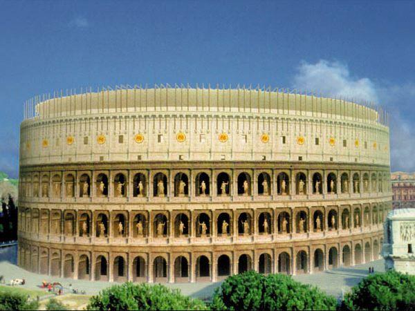 Vista Virtual Del Coliseo Romano En La Antigüedad Roma Antigua