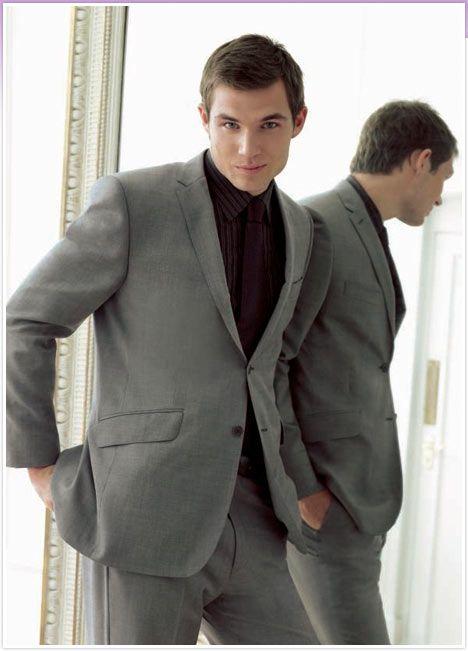 gray suit black shirt   Men's Fashion - Black and Dark Dress ...