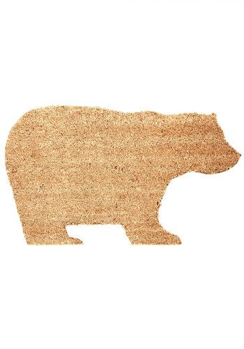 Cutie bear-shaped doormat