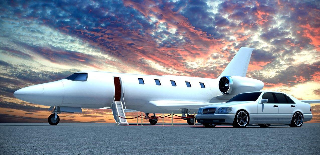 Картинка самолета и машины