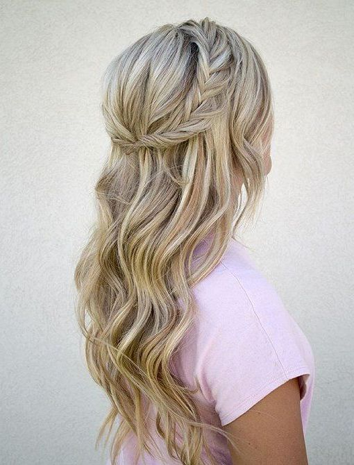 Halfway Up Hairstyle Inspiration For Winter 2016 2017 Hair Styles Long Hair Styles Braids For Long Hair