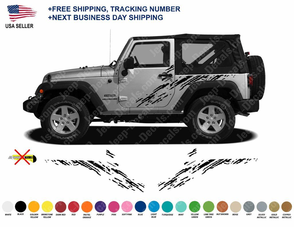 Side Graphic Mud Splashes For Jk 2 Doors Body Style Jeep