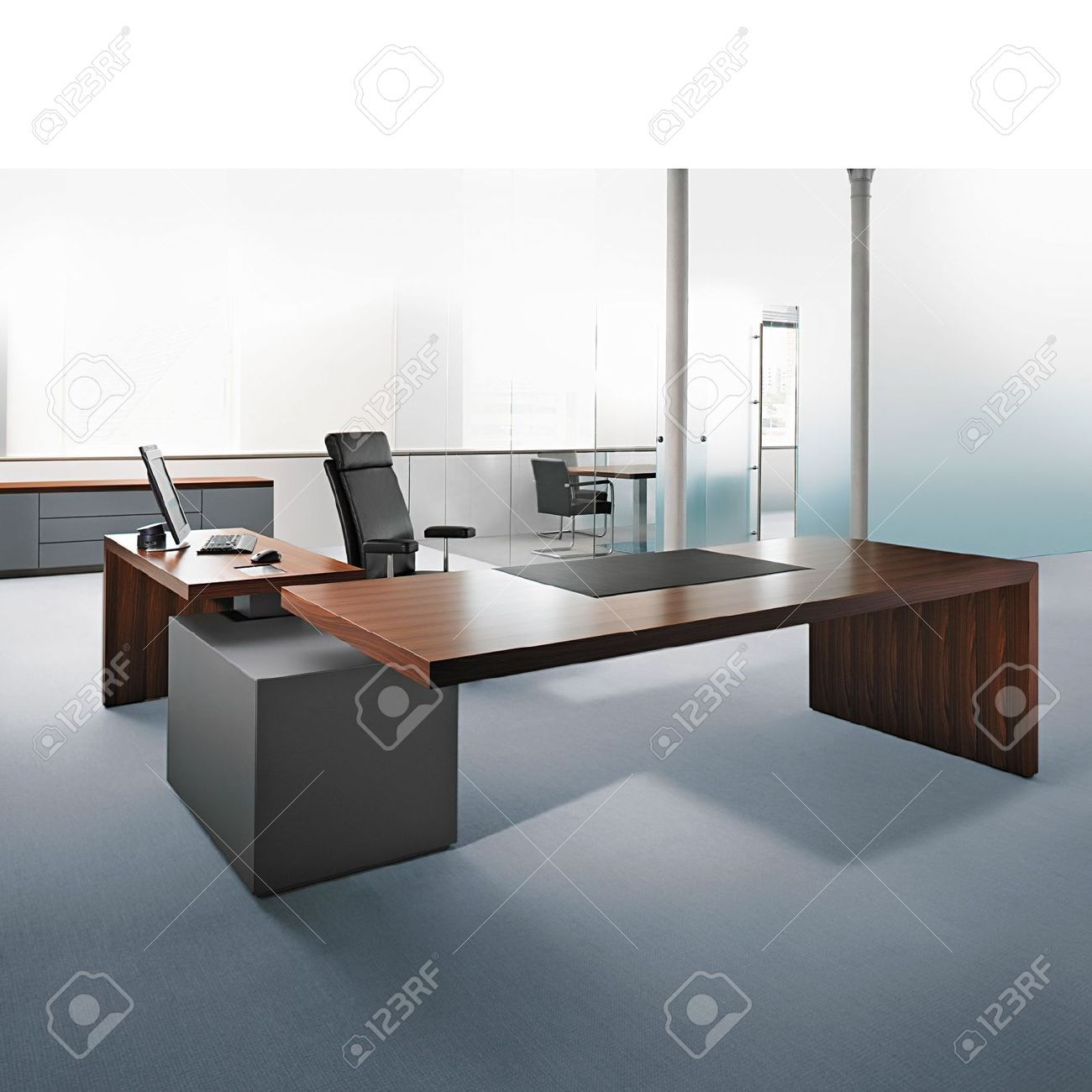 Stock Photo  Work surfaces  Ceo office Office cabin design et Office plan