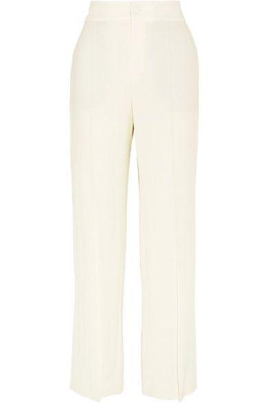 Lanvin - Stretch-crepe Wide-leg Pants - Ivory - FR40
