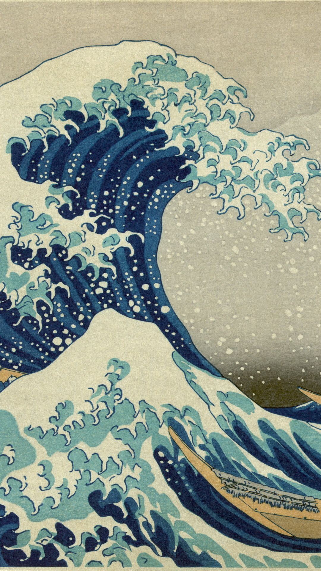 Katsushika Hokusai Japan art iPhone wallpapers iPhone