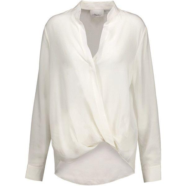 3.1 Phillip Lim - Wrap-effect Silk Crepe De Chine Blouse ($169) ❤