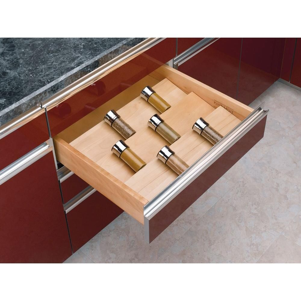 Rev A Shelf X Large Wood Cabinet Drawer E Insert 4sdi 24 The Home Depot