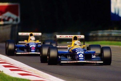 Riccardo Patrese , Nigel Mansell Williams - Renault Monza 1992