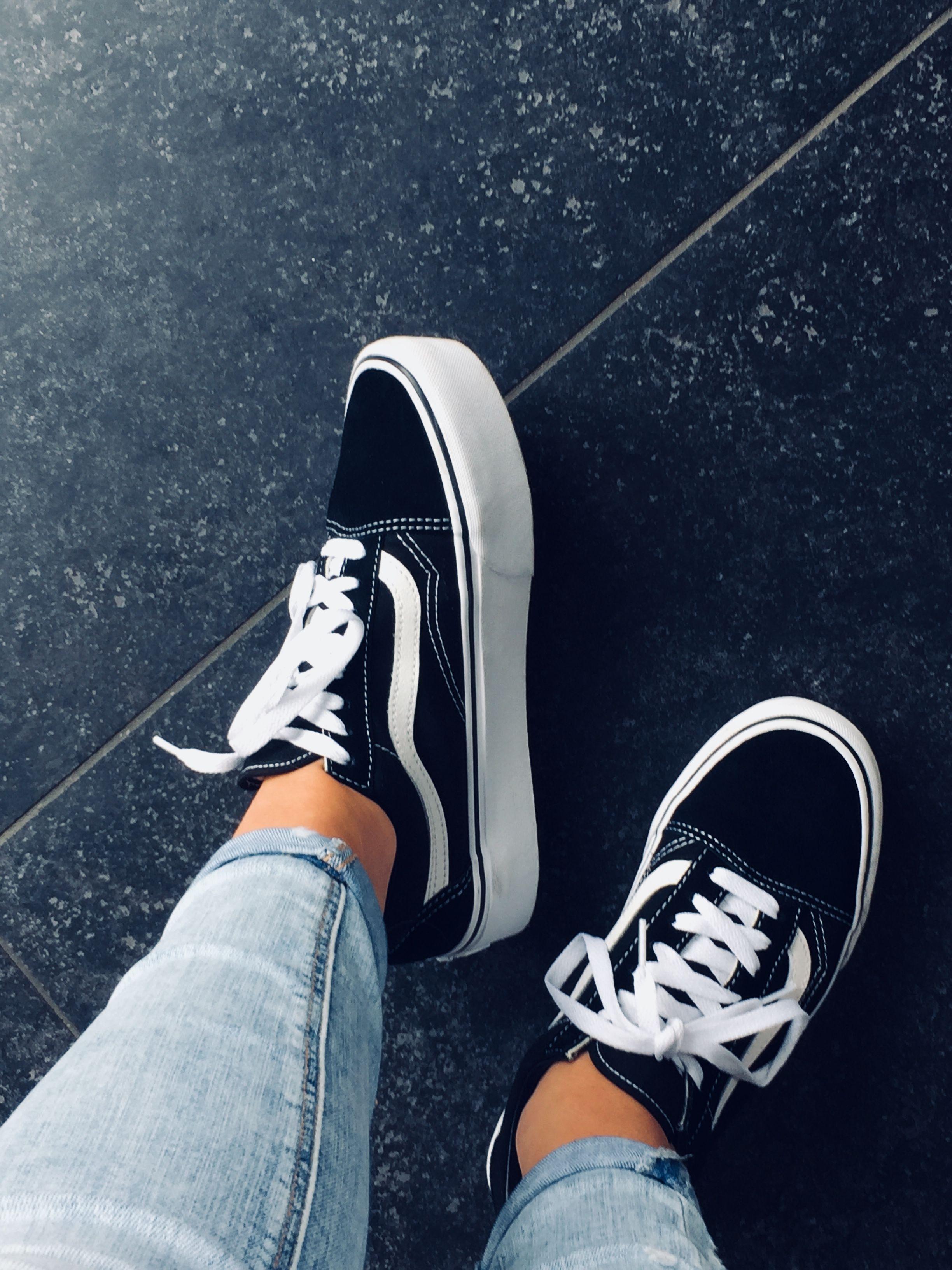 Vans old skool platform | Schoenen sneakers, Trendy schoenen ...