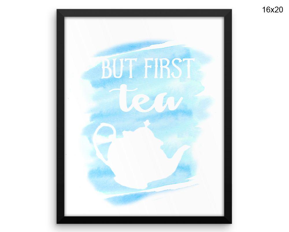 But First Tea Canvas Art But First Tea Printed But First Tea Kitchen ...