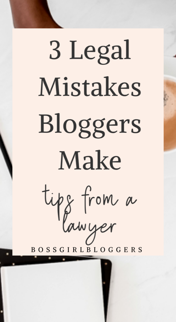 3 legal mistakes most bloggers make. How to protect your blog legally with privacy and disclosure policies. #legaltips #bloggingforbeginners #blogtemplate #templates