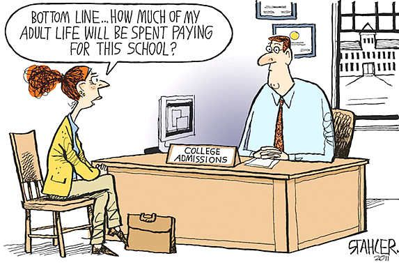 Image result for financial aid cartoon
