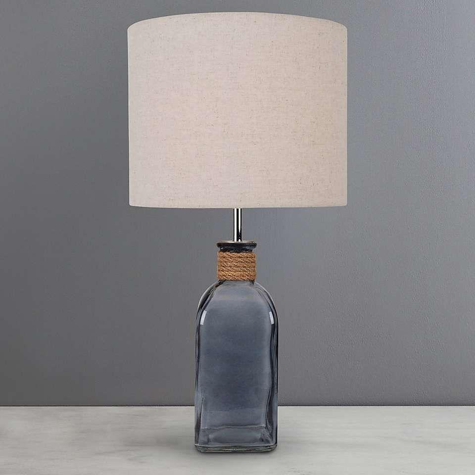 Bathroom Lights Dunelm ellery clear glass bottle table lamp | dunelm | dekorasyon