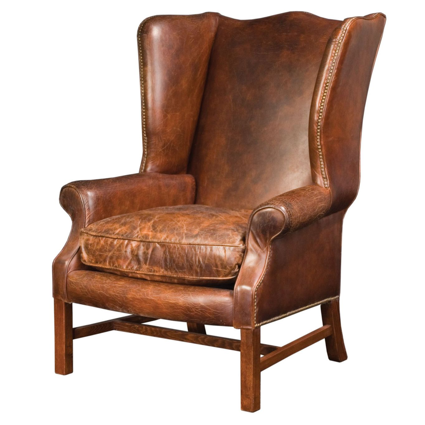 Image of Leather Wingback Chair pretty  leather chairs