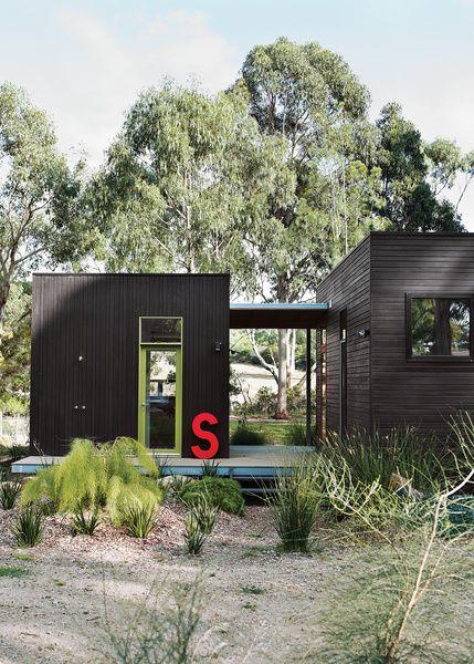 Modular Black Beach House Via