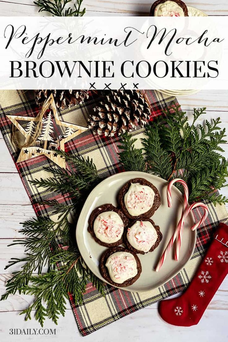 Peppermint Mocha Brownie Cookies Is there a more Christmassy flavor than peppermint and mocha? Not