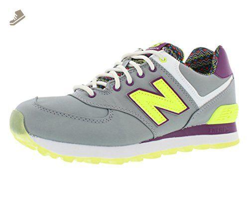 Womens Shoes New Balance Classics 574 - Street Beat Grey/Yellow