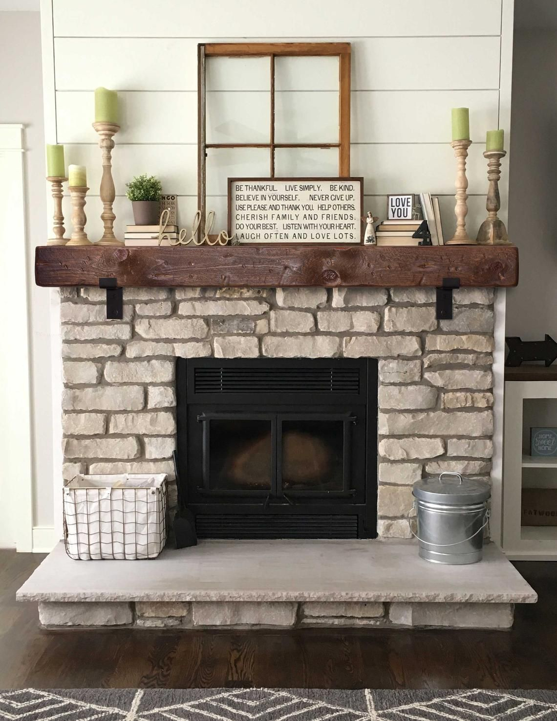 Mantel With Metal Brackets Fireplace Mantel 6x6 Mantle Etsy