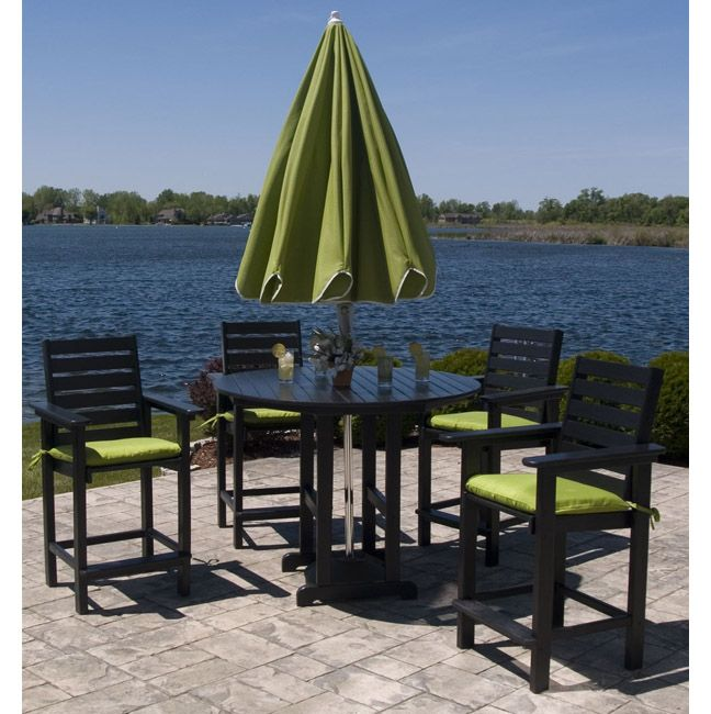 high top patio tables | PolyWood Captain Hi Top Patio Set | Furniture For  Patio - High Top Patio Tables PolyWood Captain Hi Top Patio Set