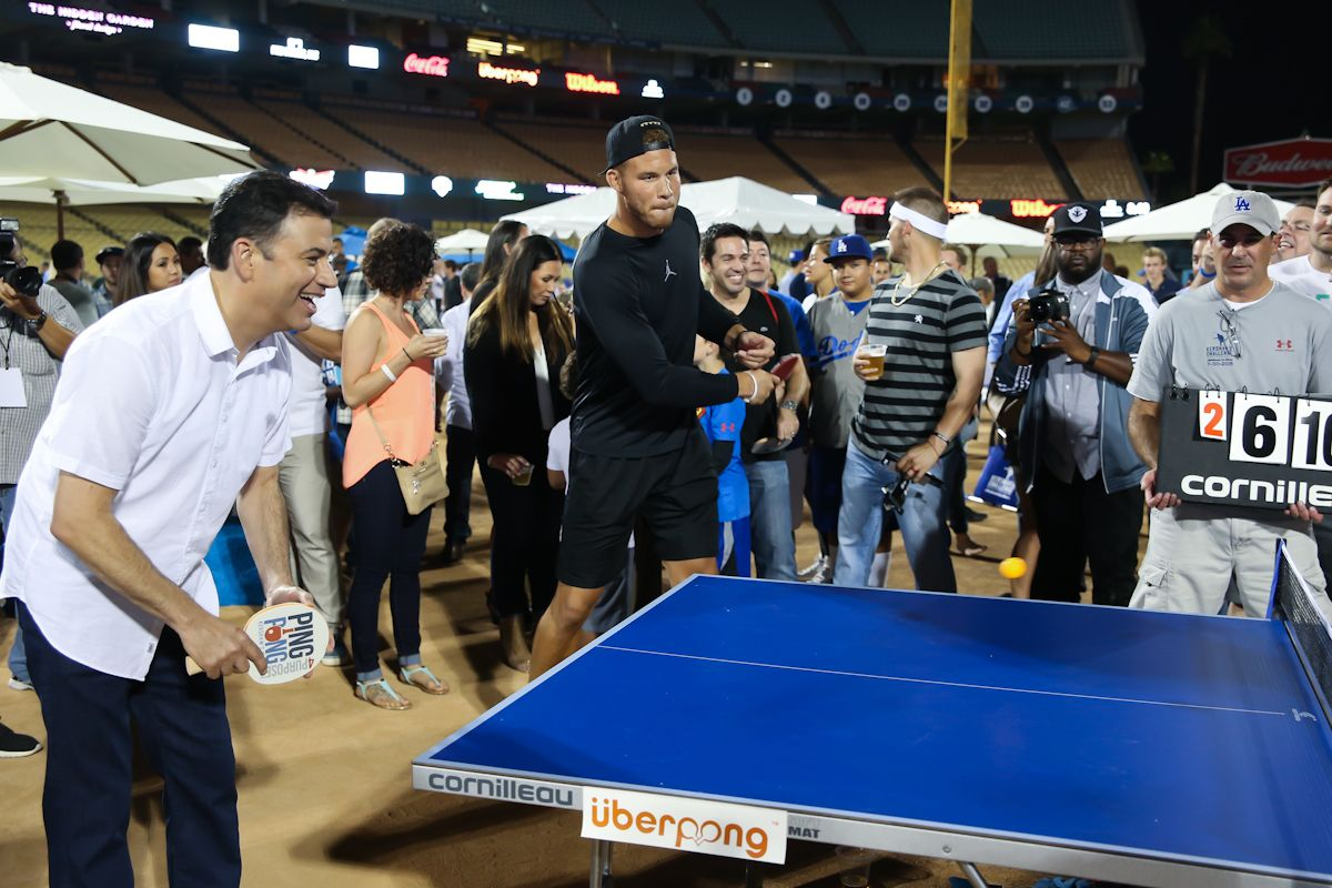 12bd2097fdde3 BlakeGriffin #JimmyKimmel #PingPong | Ping Pong Charity Event ...