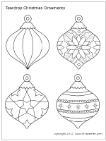 Wonderful Site For Printable Christmas Ornaments To Paint Or Color And Hang Printable Christmas Ornaments Christmas Ornament Template Paper Christmas Ornaments