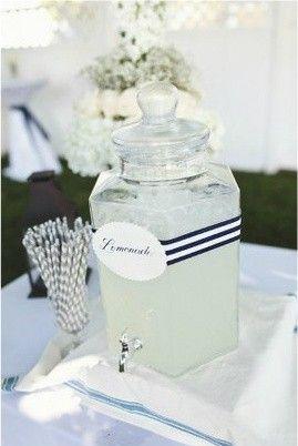 Lemonade station for nautical themed wedding i do - Candy candy diva futura ...