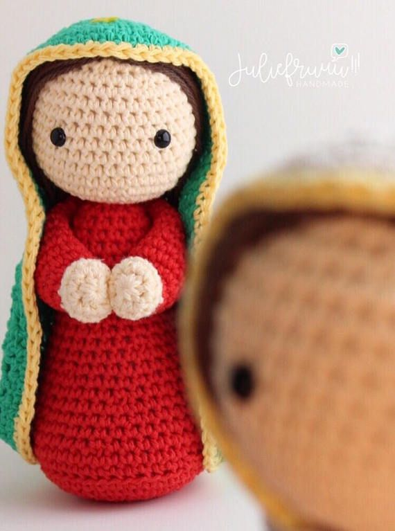 Our lady of Guadalupe doll, Amigurumi Handmade Crochet doll | Moda ...