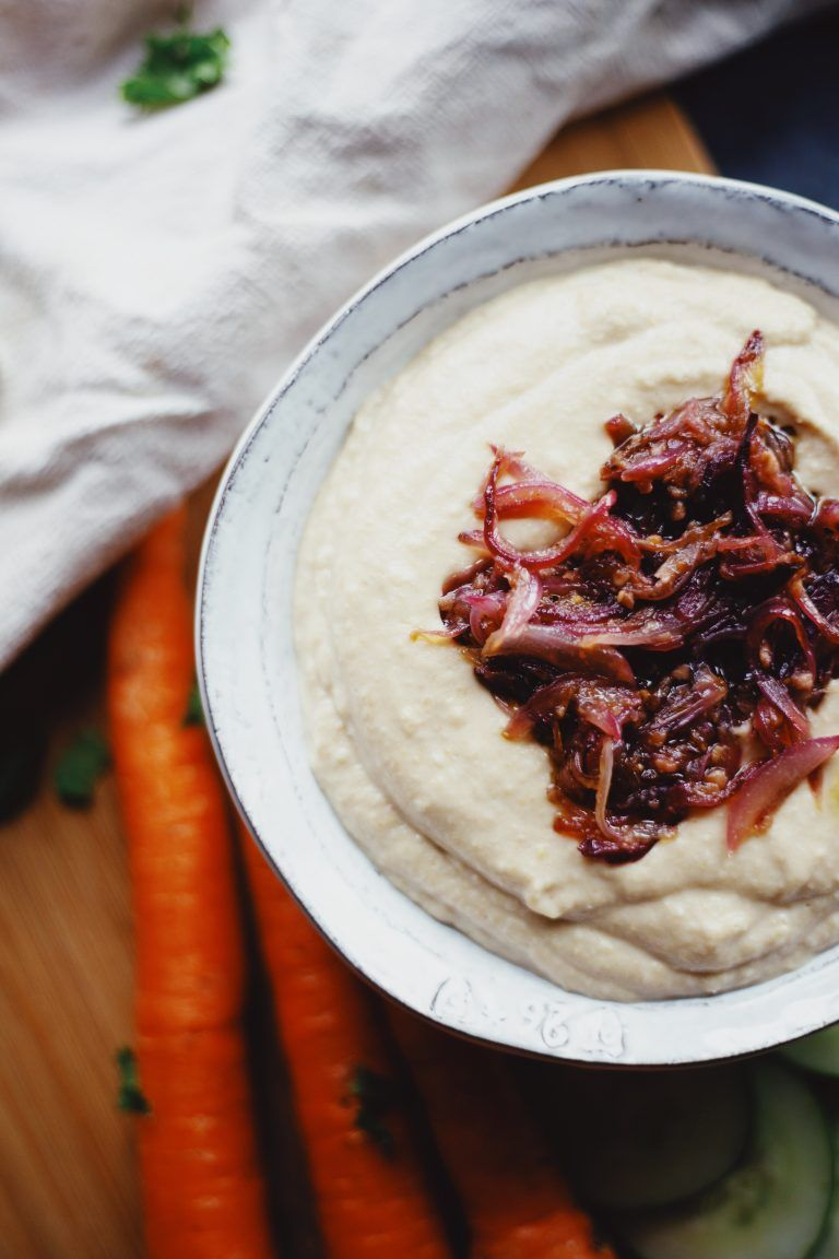 Easy Garlic Onion Hummus