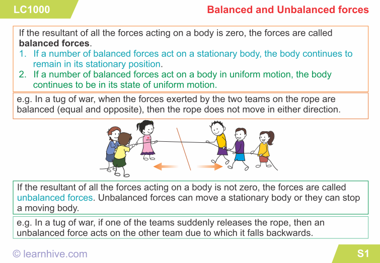 Image Result For Balanced And Unbalanced Forces Worksheet 3rd Grade Force  And Motion, Unbalanced, Force