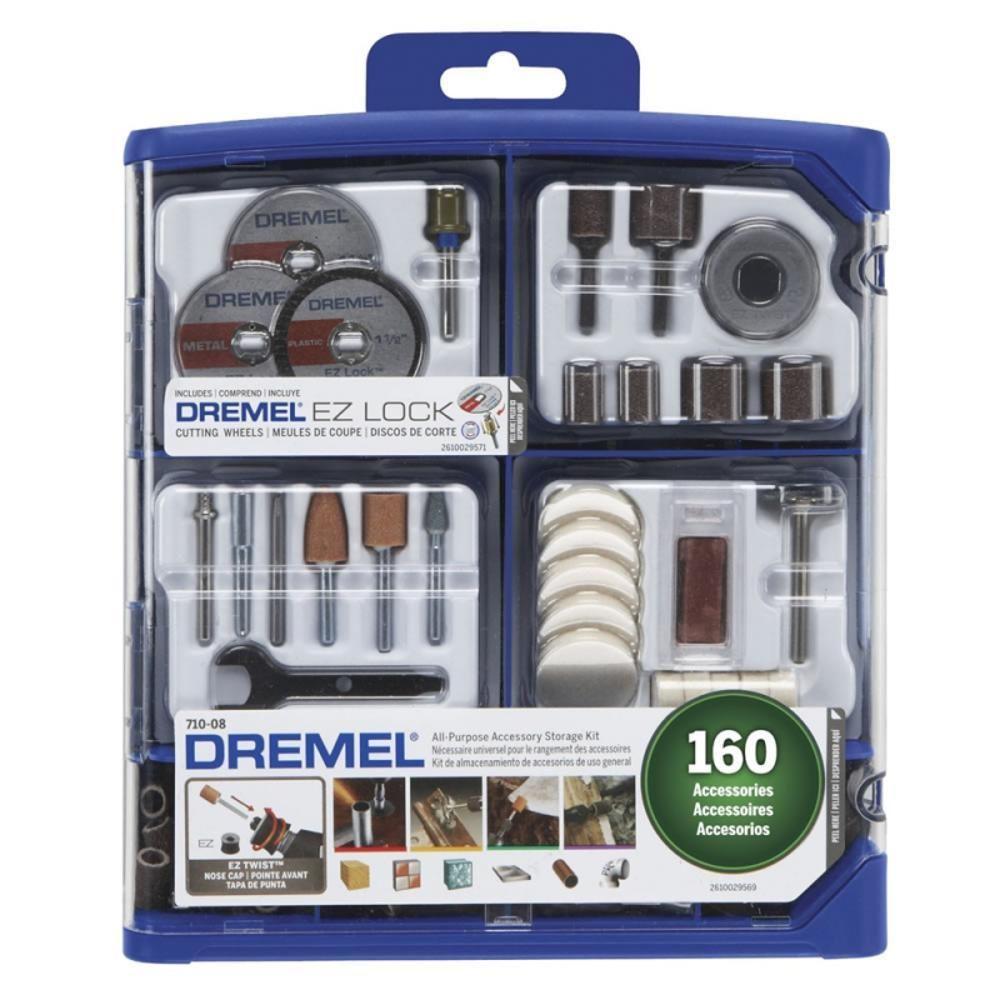 Kit Para Mini Retifica Dremel 160 Peças Ez-Lock 710rw-2 Dremel
