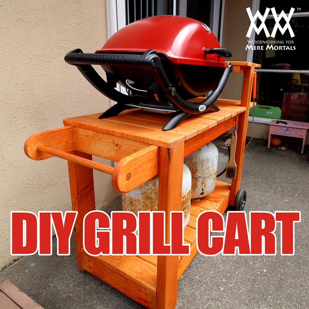 Awesome DIY barbecue grill cart. Easy to build in a weekend. Free ...