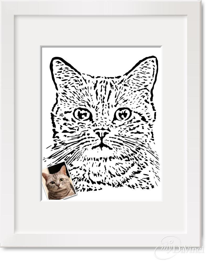 Paper Cut Pet Portrait from Photo - myDaVinci.com