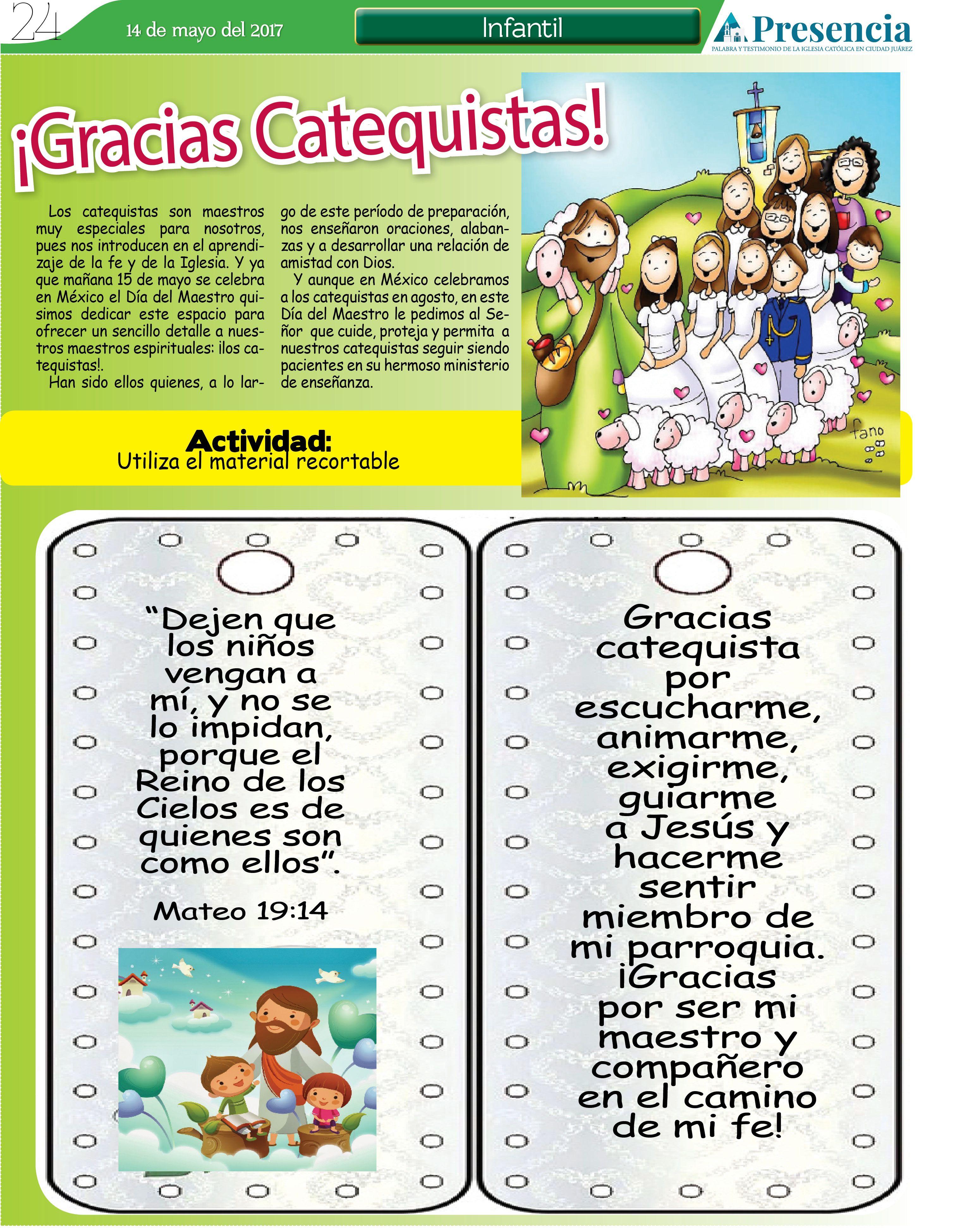 Gracias Catequistas Catequista Temas De Catequesis Actividades Escolares