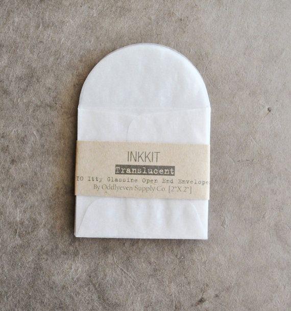 itty glassine envelopes open end (10 envelopes)