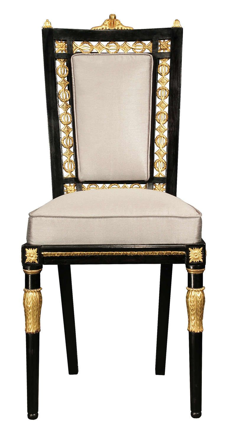 early 19th century italian louis xvi set of 16 dining chairs m bel pinterest empire. Black Bedroom Furniture Sets. Home Design Ideas