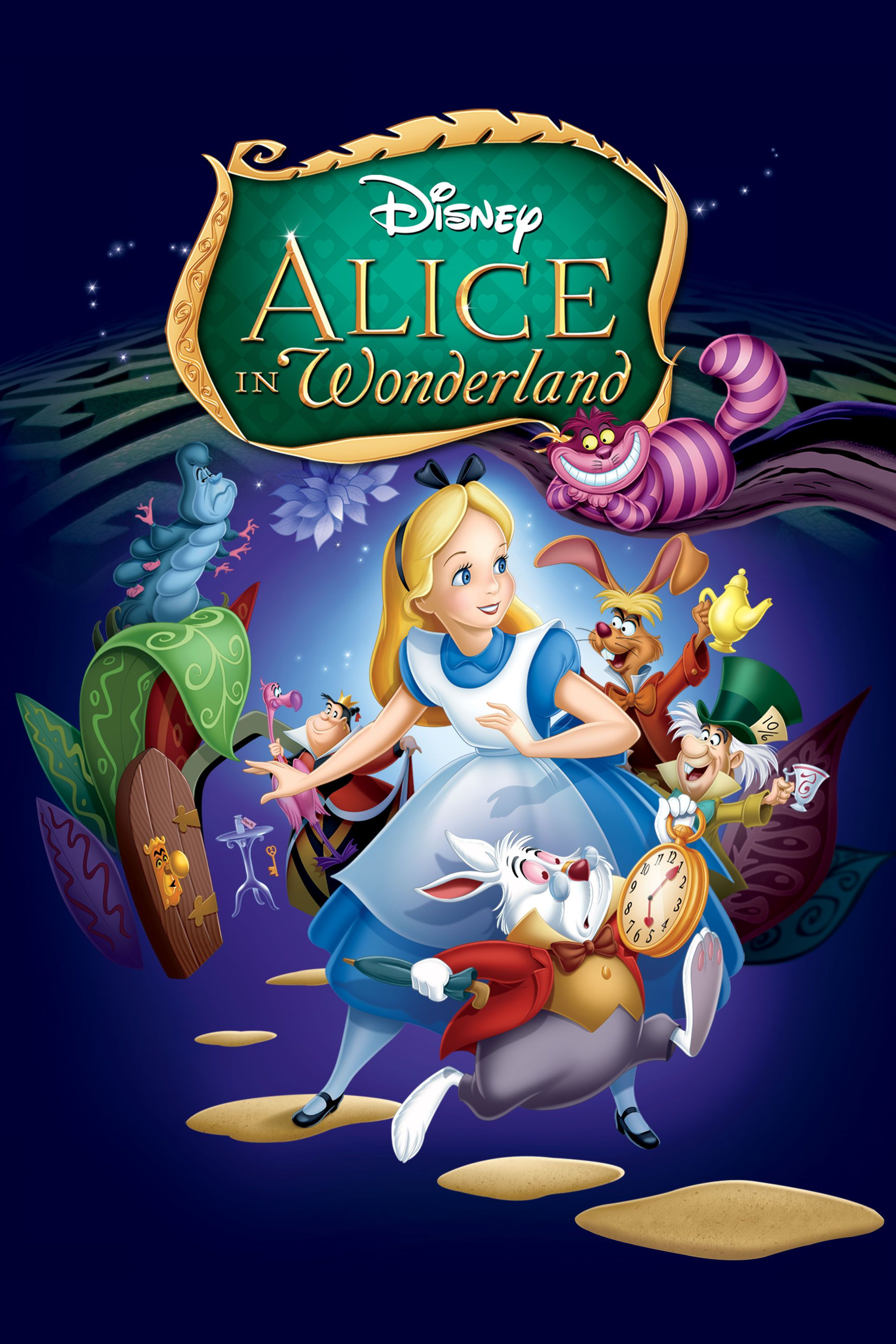 Alice in wonderland disney animation animation film 60th anniversary disney movie posters