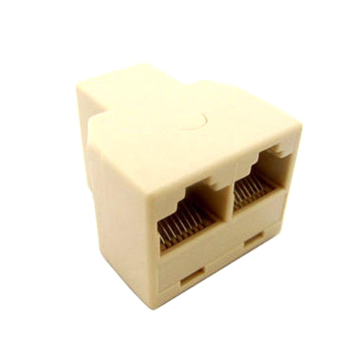 rj45 splitter connector cat5 lan ethernet splitter adapter 8p8c rh pinterest com connecting cat5 connectors wiring diagram for cat5 connectors