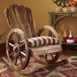 Ordinaire Wagon Wheel Rocker #upcycle #furniture #chair