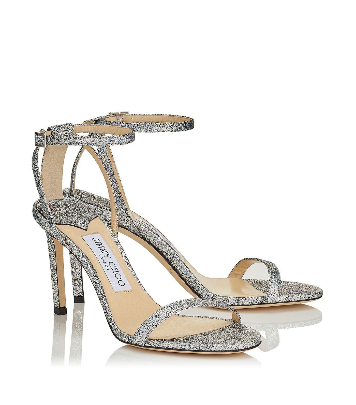 Jimmy Choo Minny 85 Glitter Sandals #AD