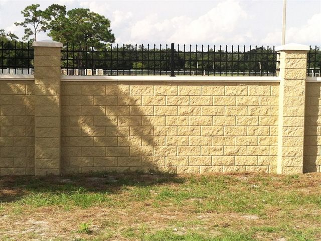 wrought iron fence on top of block wall - Google Search | home ...