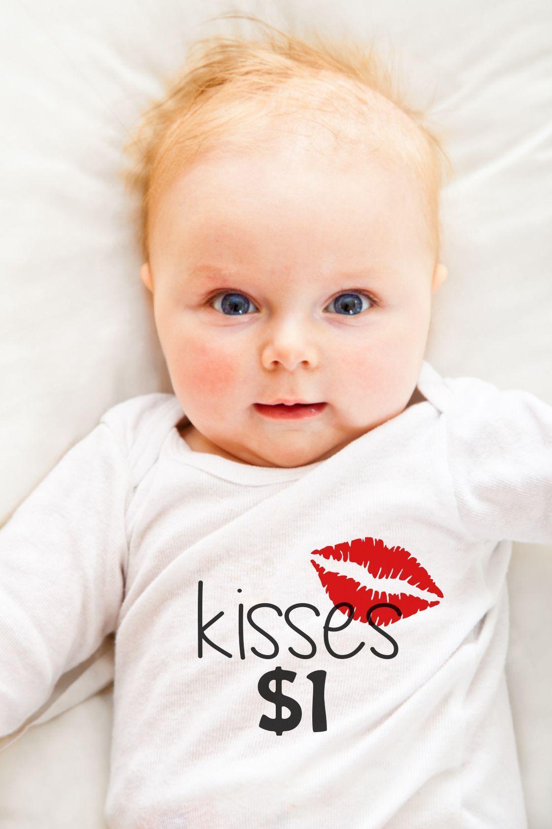 Hilariously Cute Onesie - Kisses $1