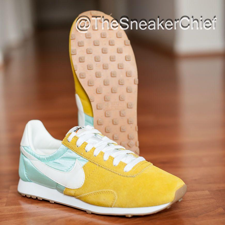 NIKE PRE MONTREAL RACER VINTAGE WOMENS RUNNING SHOES GOLD MINT 555258 303 #Nike #RunningCrossTraining