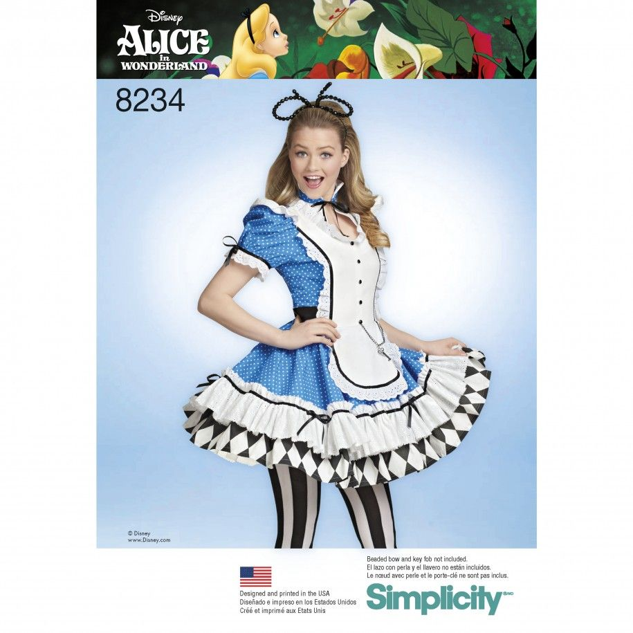 Simplicity Pattern 8234 Women\'s Alice in Wonderland Cosplay Costume