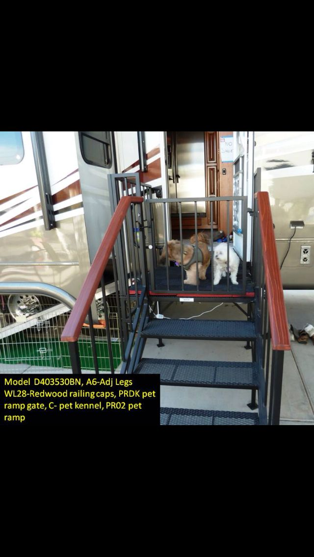 Portable Rv Landing With Stairs Amp Puppy Ramp Rv Life